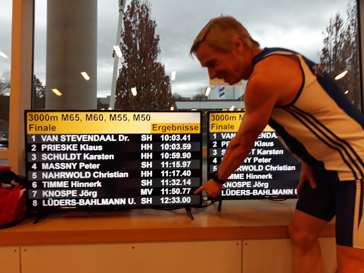 Stolz auf die Siegerzeit in der M60 – Jörg Knospe